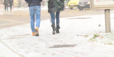 Verschneites Wien: Impressionen