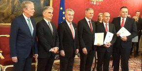 Österreich: neue Minister angelobt