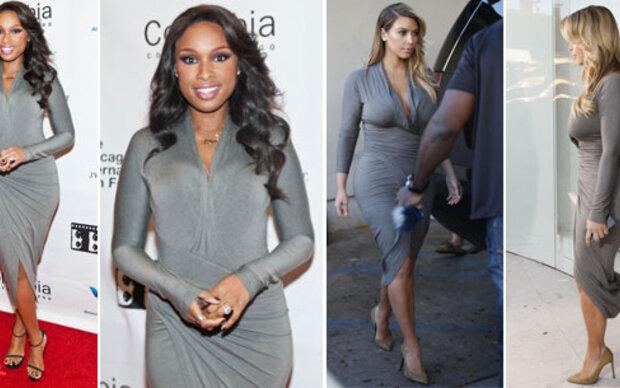 Kim & Jennifer: Zwei Stars im gleichen Kleid