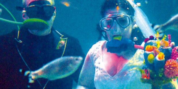 Traumhochzeit unter Wasser