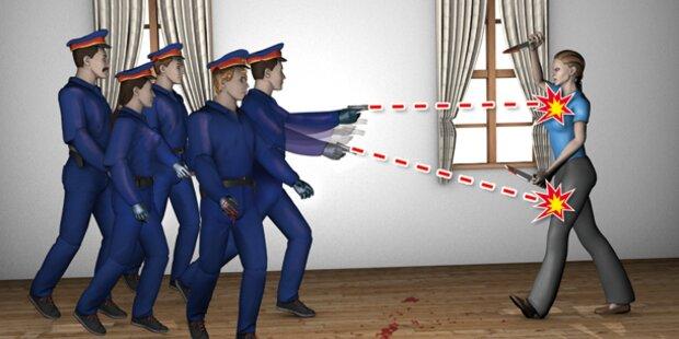 Polizist schoss 9 mal auf Frau