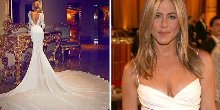 Hat Jennifer Aniston in diesem Kleid geheiratet?