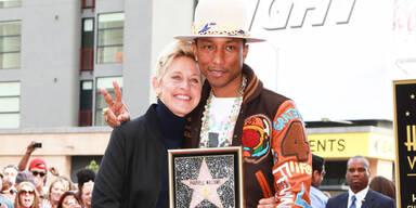 """Pharrell Williams bekommt Stern am """"Walk of Fame"""""""