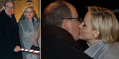 Charlène und Albert in love