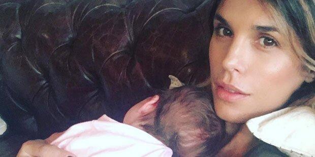 Elisabetta Canalis feiert 1 Monat Baby