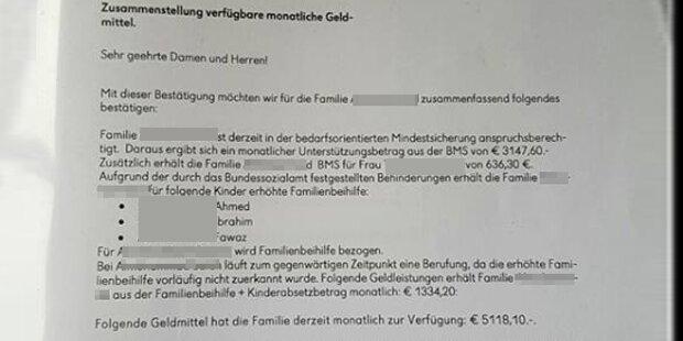 Flüchtlingsfamilie erhält 5.118 Euro im Monat