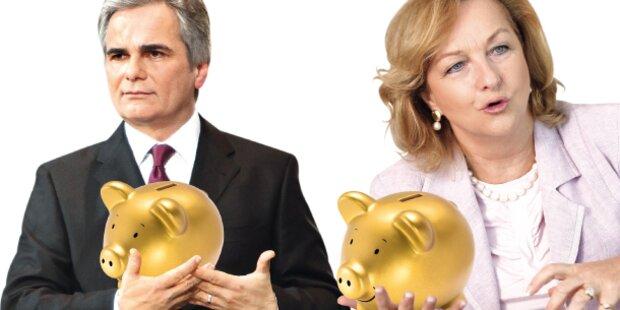 Sparpaket: Eckpunkte jetzt fix