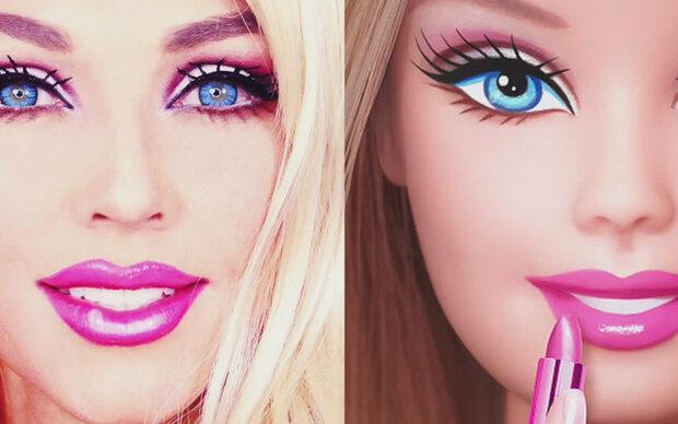 In 90 Sekunden zur Barbie verwandelt