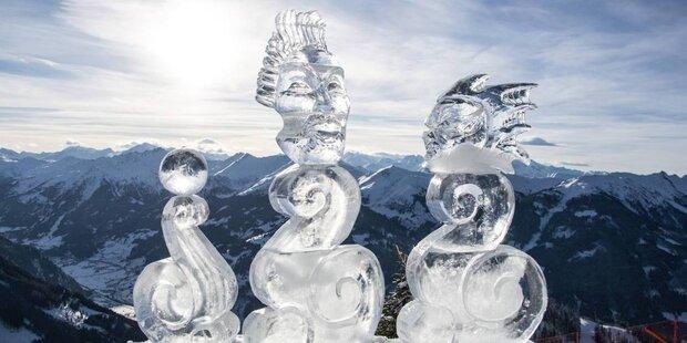Schneekunstwerke in Gastein