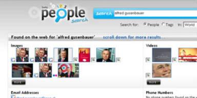 Suchmaschine spürt Personen im Web auf