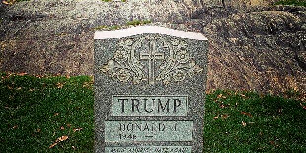 Trump-Grabstein in NY: Protest oder Witz?