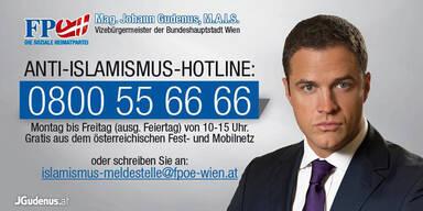 Gudenus sorgt mit Anti-Islamismus-Hotline für Wirbel