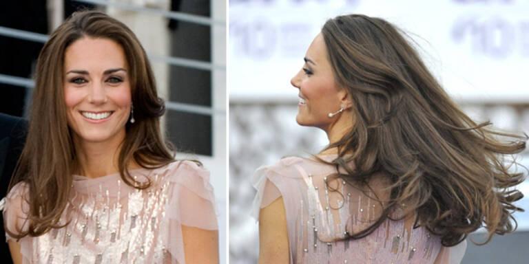 Alle wollen die Haare von Kate