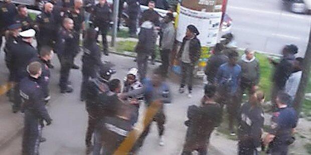 Wieder blutiger Banden-Krieg bei U6-Station