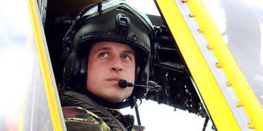 Prinz William im Hubschrauber