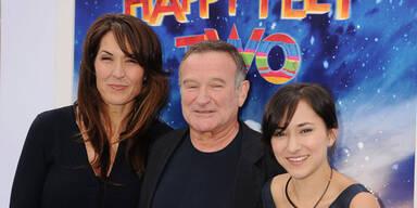 Robin Williams mit Ehefrau Susan & Tochter Zelda