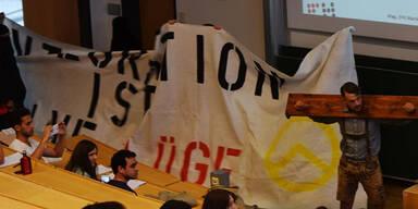 Identitäre stürmen Uni! - Rektor attackiert