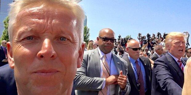 So lacht das Netz über Lopatkas Trump-Selfie