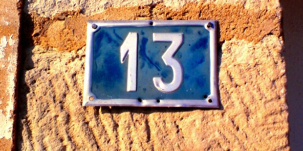 Hausnummer 13 macht Immobilien billiger