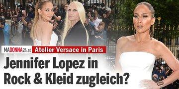 Hingucker bei Atelier Versace in Paris: Jennifer Lopez in Hose & Kleid zugleich?