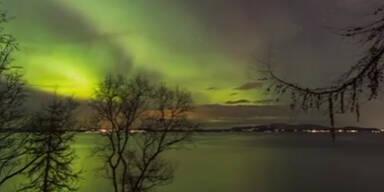 Spektakuläres Polarlicht
