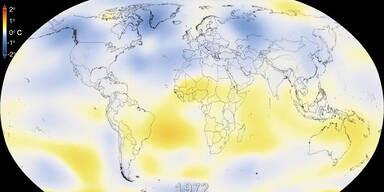 Die Erderwärmung im Zeitraffer