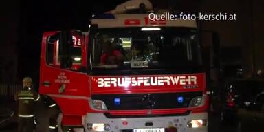 Dramatisch: Brand in Linz