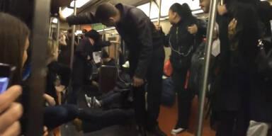 Panik in New Yorker U-Bahn
