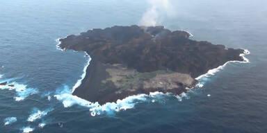 Meeres-Vulkan lässt neue Insel entstehen