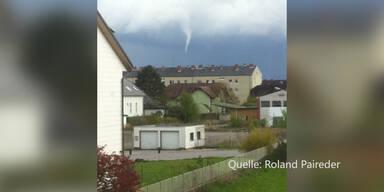 So sieht ein Tornado über Österreich aus