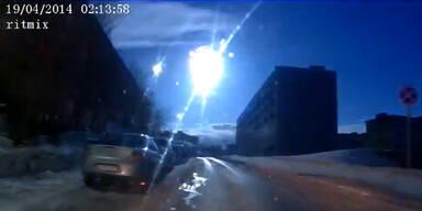 Meteorit über Murmansk verglüht