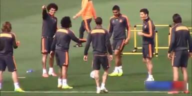 Pepe verpasst Marcelo doppeltes Gurkerl