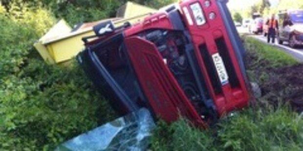 Schwerer LKW-Unfall beim Knoten Salzburg