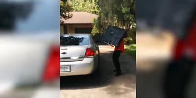 Einbrecher auf frischer Tat ertappt