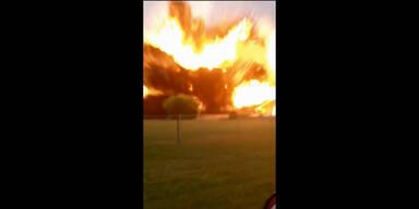 Heftige Explosion gefilmt