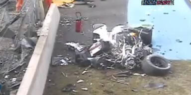 Horror-Crash überschattet Le-Mans-Training