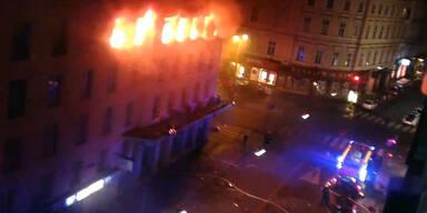 Flammen in der Wiener Innenstadt