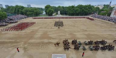 Die britische Armee im Zeitraffer