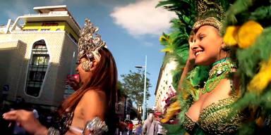 WM-Flashmob auf der Mariahilferstraße