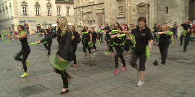 Fitness-Flashmob am Stephansplatz