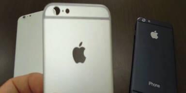 Die Hülle des neuen Iphones wird gezeigt