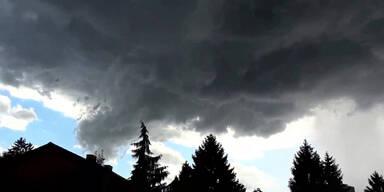 Heftige Gewitter sind im Anmarsch