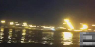 Raketenteile treffen Kreuzfahrtsschiff