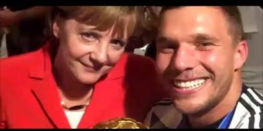Merkel und Rihanna feiern den WM-Titel