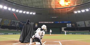 Darth Vader spielt auch Baseball