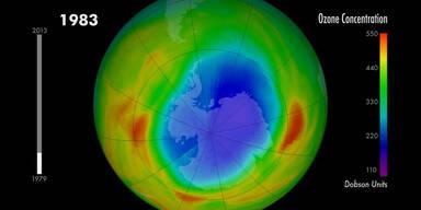 Das Ozonloch im Wandel