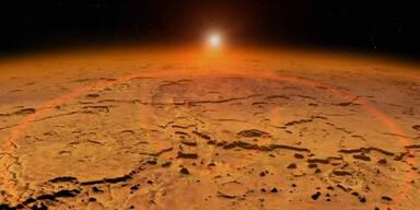 Raumsonde in Mars-Umlaufbahn