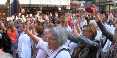 Demo in Wiener Innenstadt