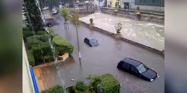 Hochwasser in Südfrankreich