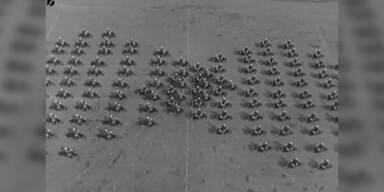 Motorrad Formationen in den 50ern